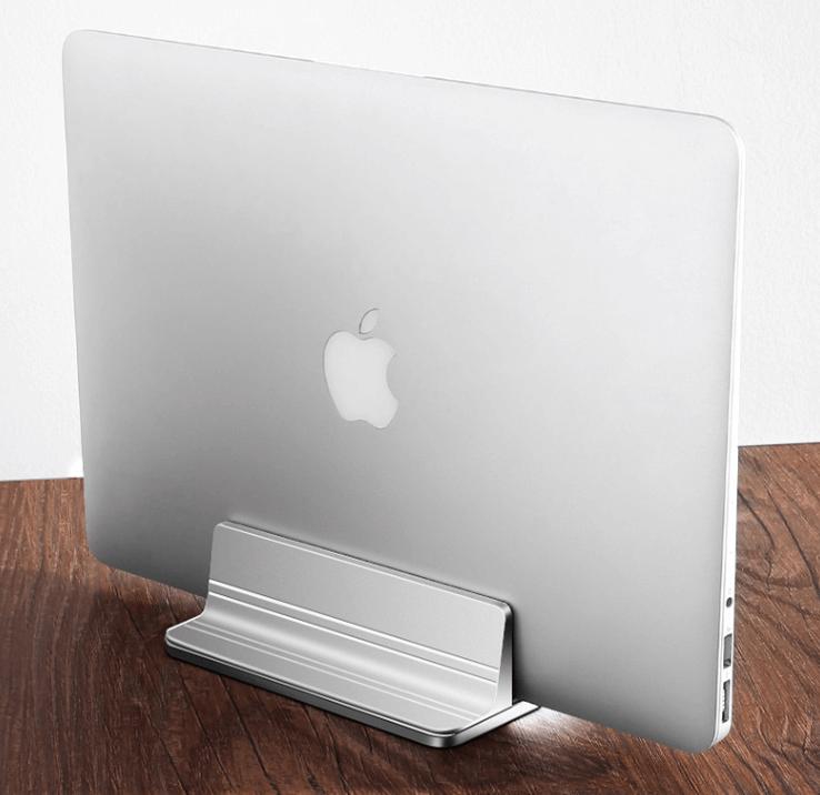 MacBook Pro 立式笔记本支架推荐:木丁丁铝合金立式金属电脑底座托架